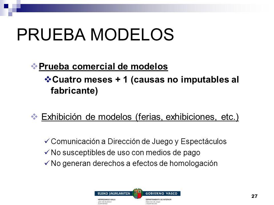 PRUEBA MODELOS Prueba comercial de modelos