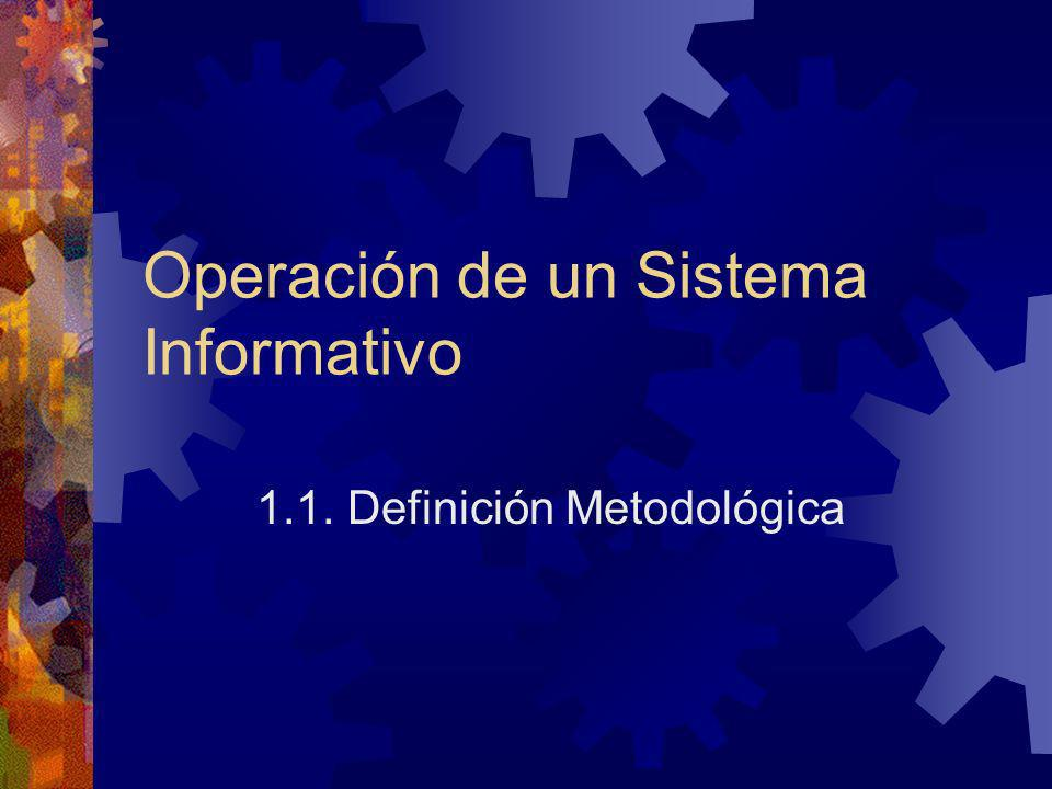Operación de un Sistema Informativo