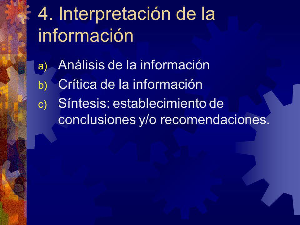4. Interpretación de la información