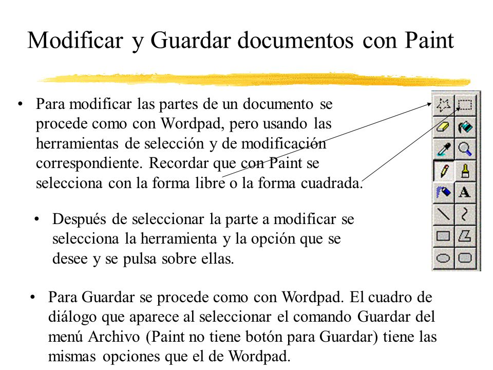 Modificar y Guardar documentos con Paint