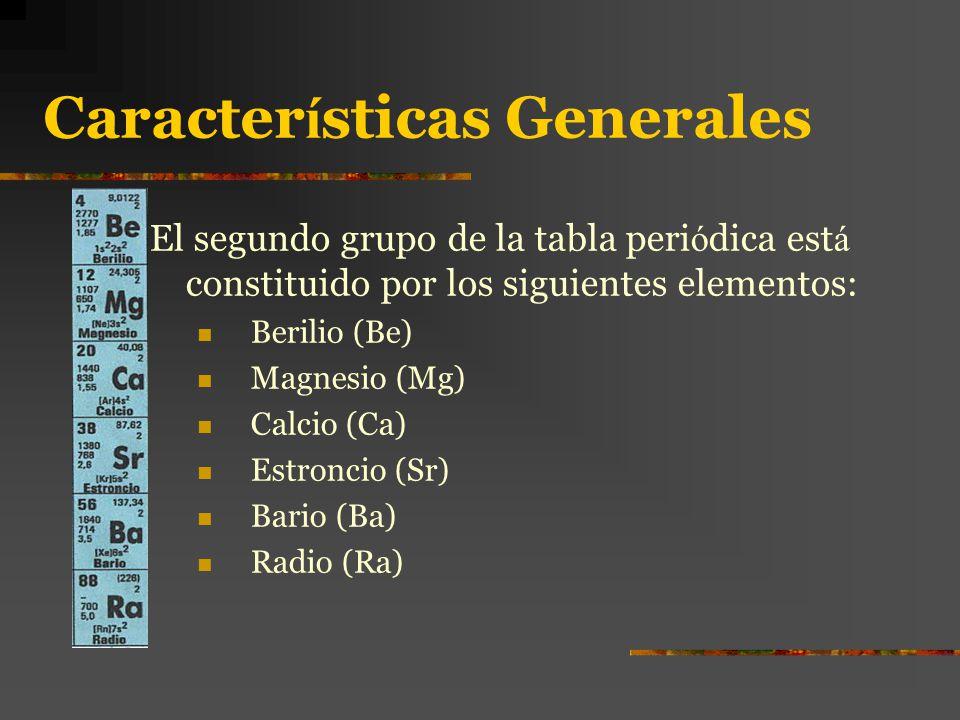 Metales alcalinotrreos ppt descargar 2 caractersticas generales urtaz Image collections