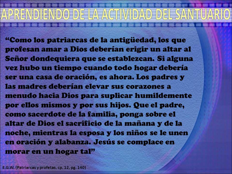 APRENDIENDO DE LA ACTIVIDAD DEL SANTUARIO