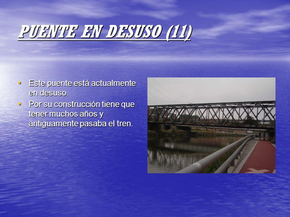PUENTE EN DESUSO (11) Este puente está actualmente en desuso.