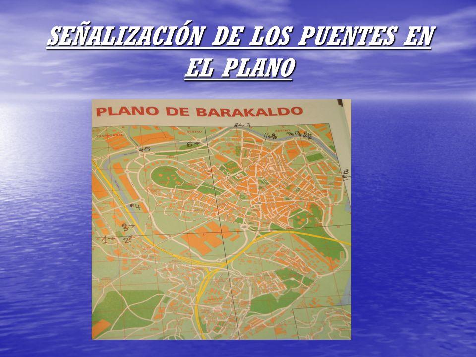 SEÑALIZACIÓN DE LOS PUENTES EN EL PLANO