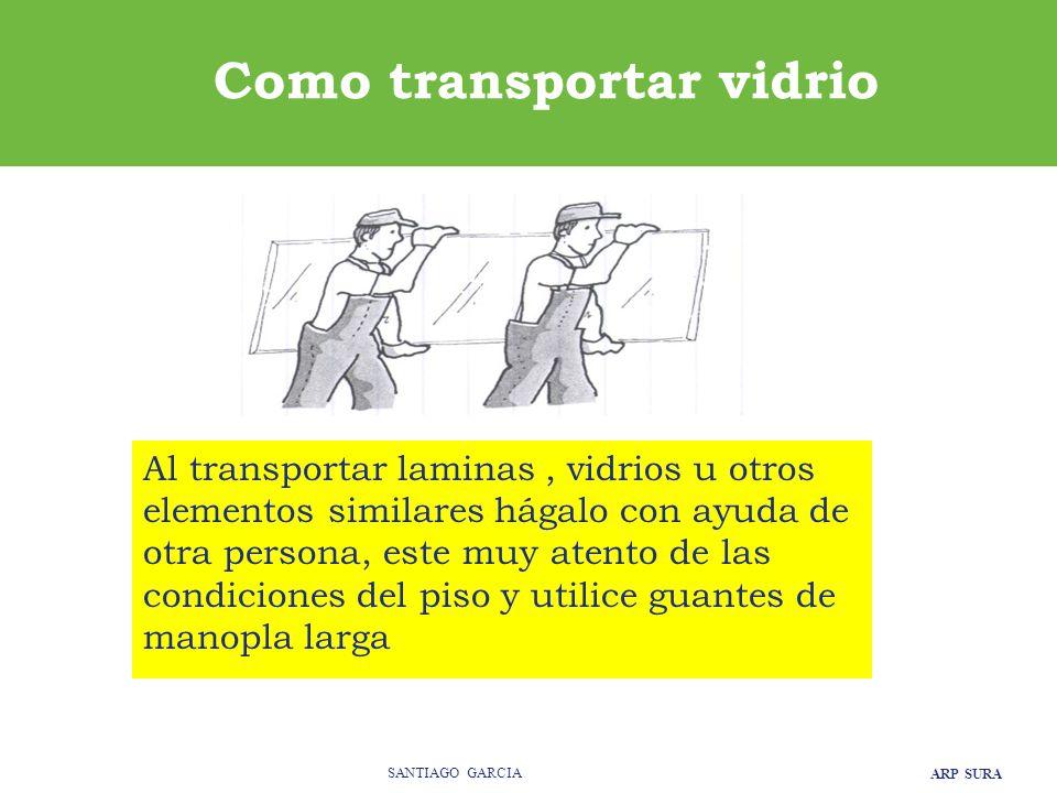 Como transportar vidrio