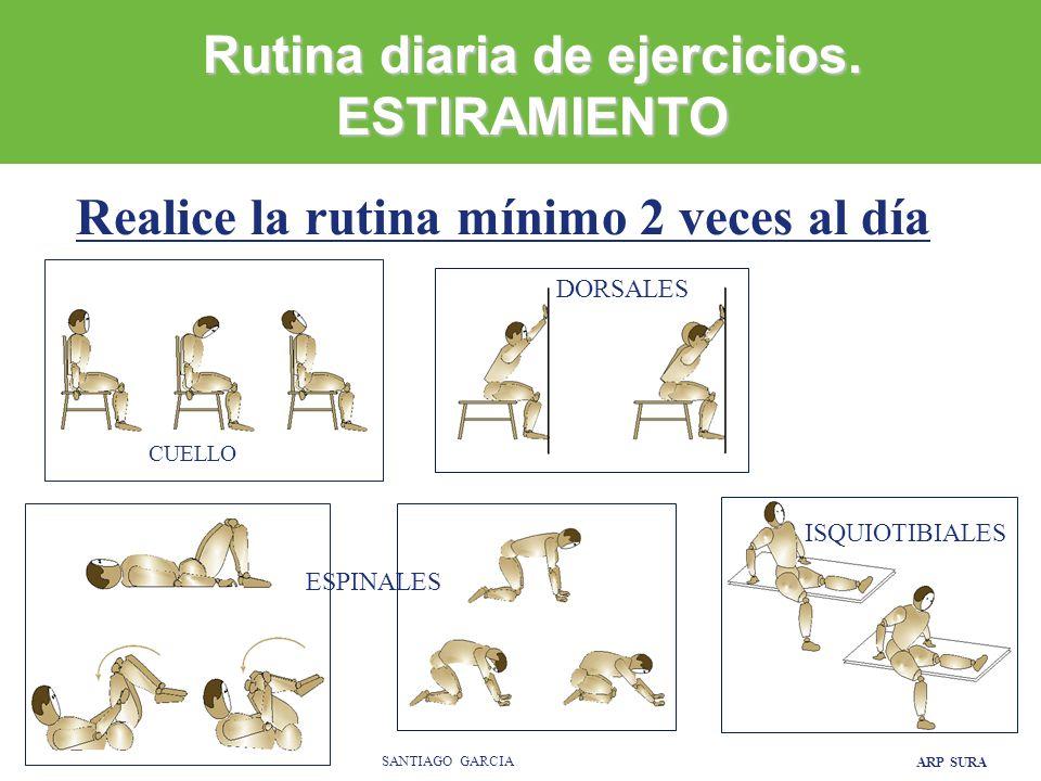 Rutina diaria de ejercicios. ESTIRAMIENTO