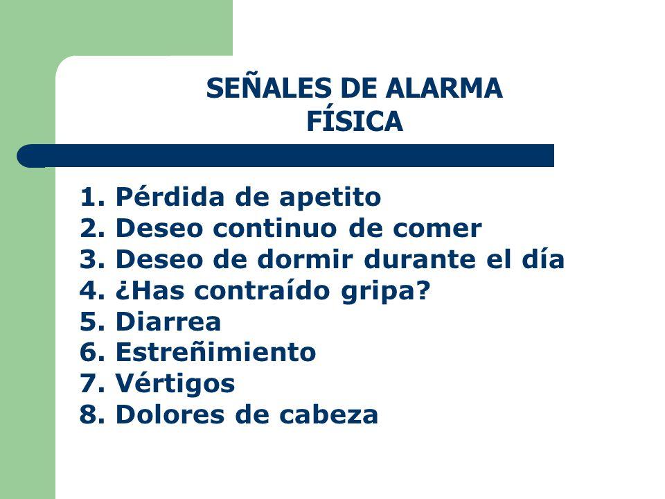 SEÑALES DE ALARMA FÍSICA