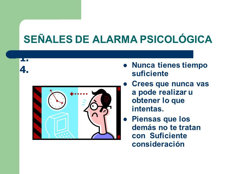 SEÑALES DE ALARMA PSICOLÓGICA