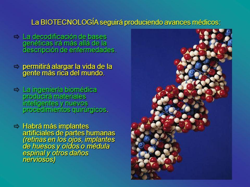 La BIOTECNOLOGÍA seguirá produciendo avances médicos: