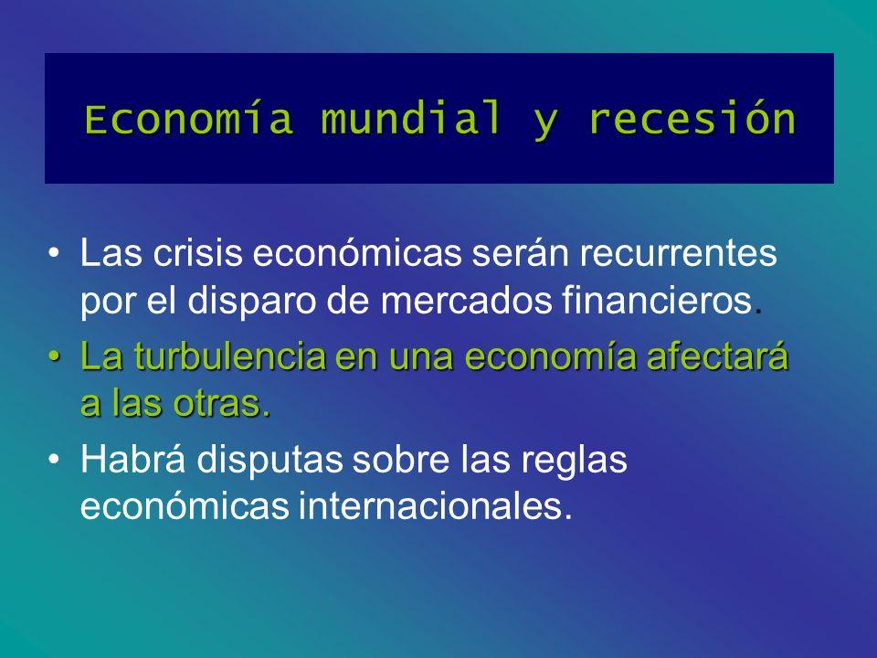 Economía mundial y recesión