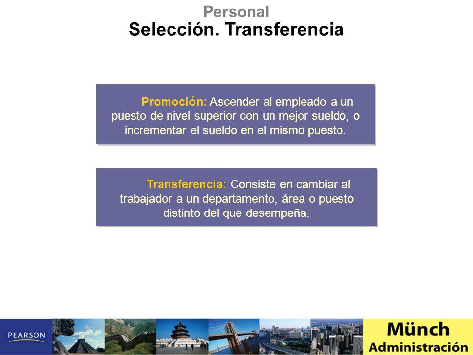 Selección. Transferencia