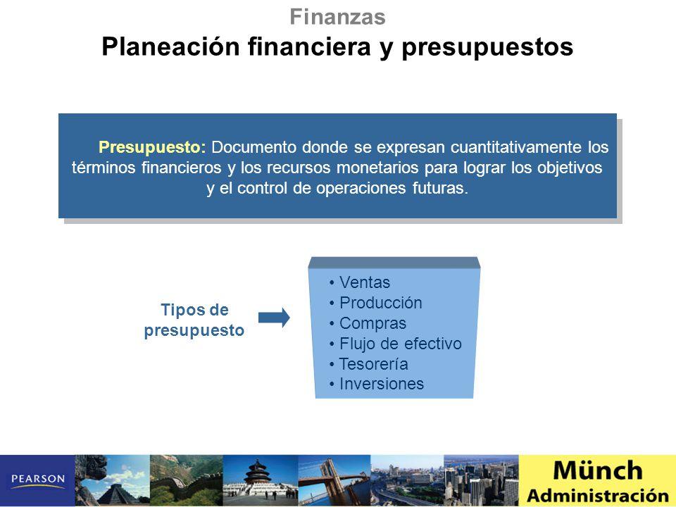 Planeación financiera y presupuestos