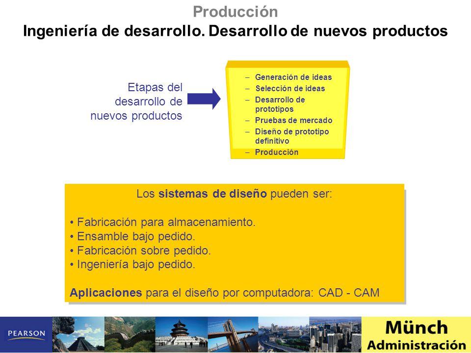 Ingeniería de desarrollo. Desarrollo de nuevos productos