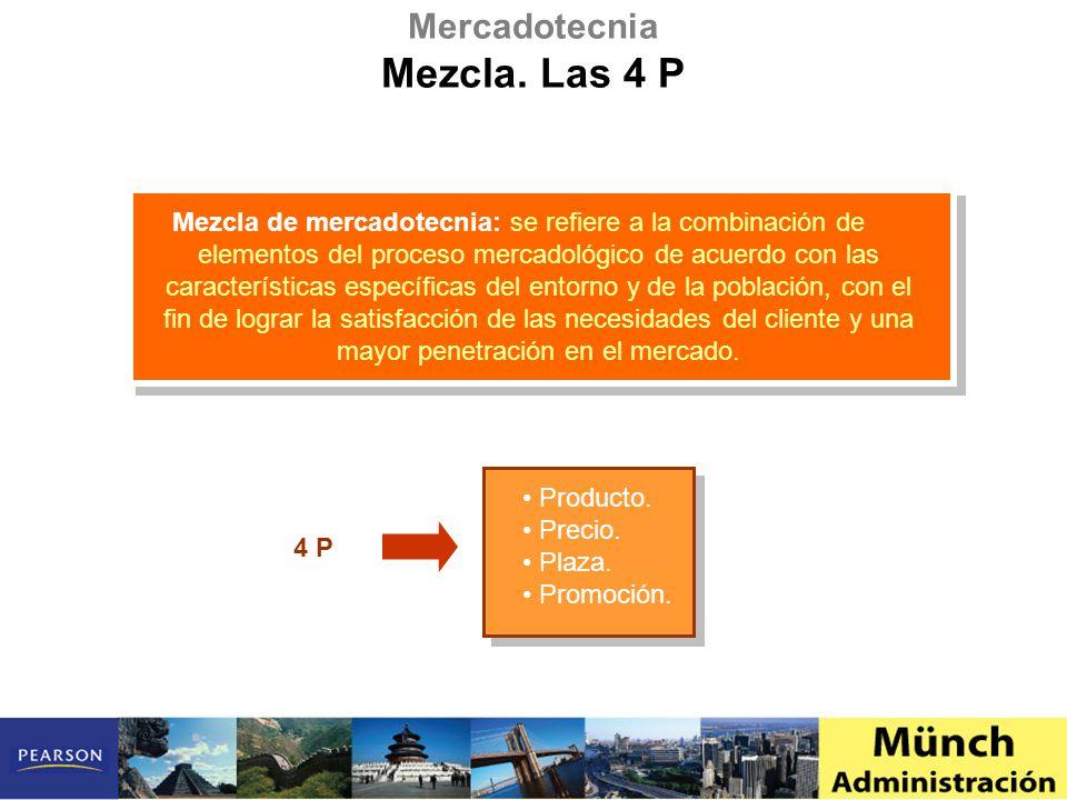 Mezcla. Las 4 P Mercadotecnia