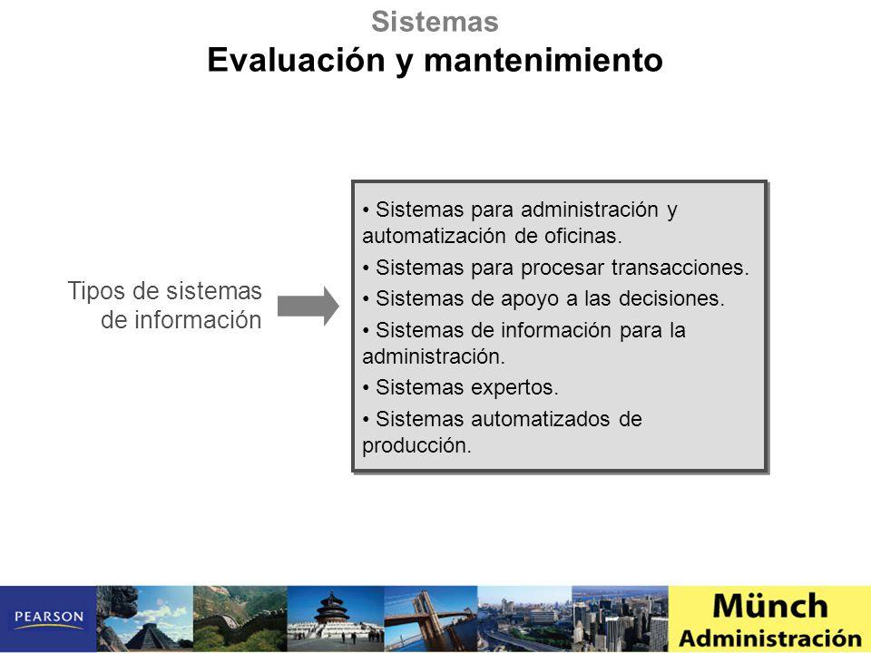 Evaluación y mantenimiento