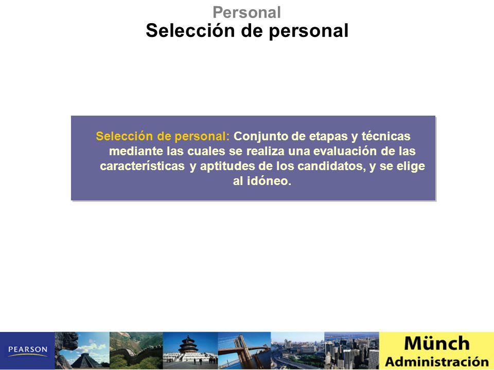 Selección de personal Personal