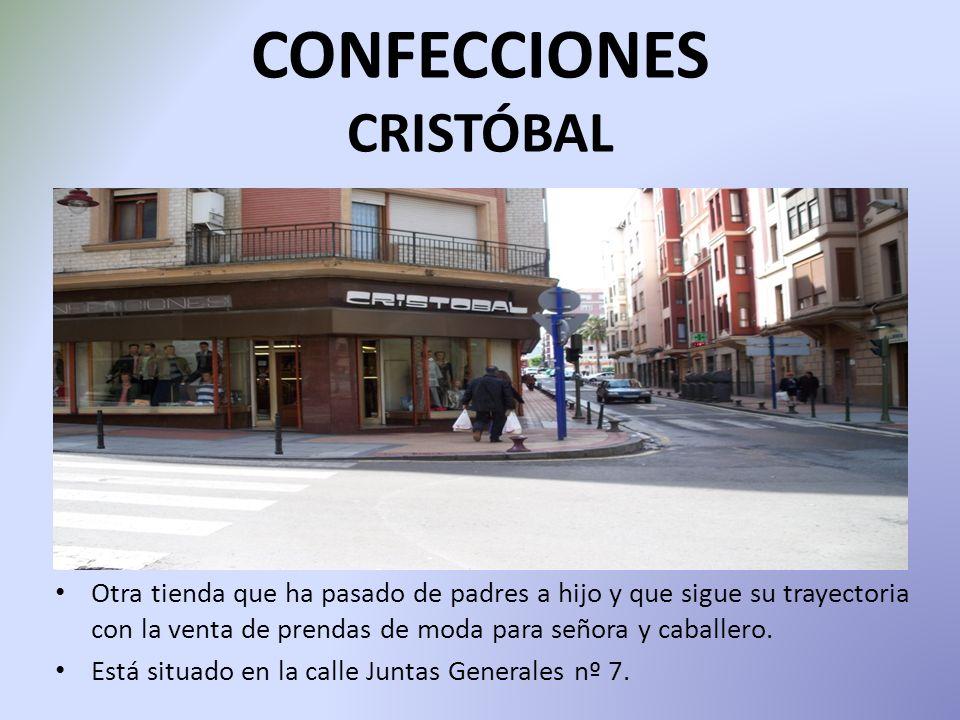 CONFECCIONES CRISTÓBAL