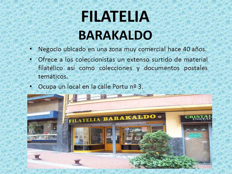 FILATELIA BARAKALDO Negocio ubicado en una zona muy comercial hace 40 años.