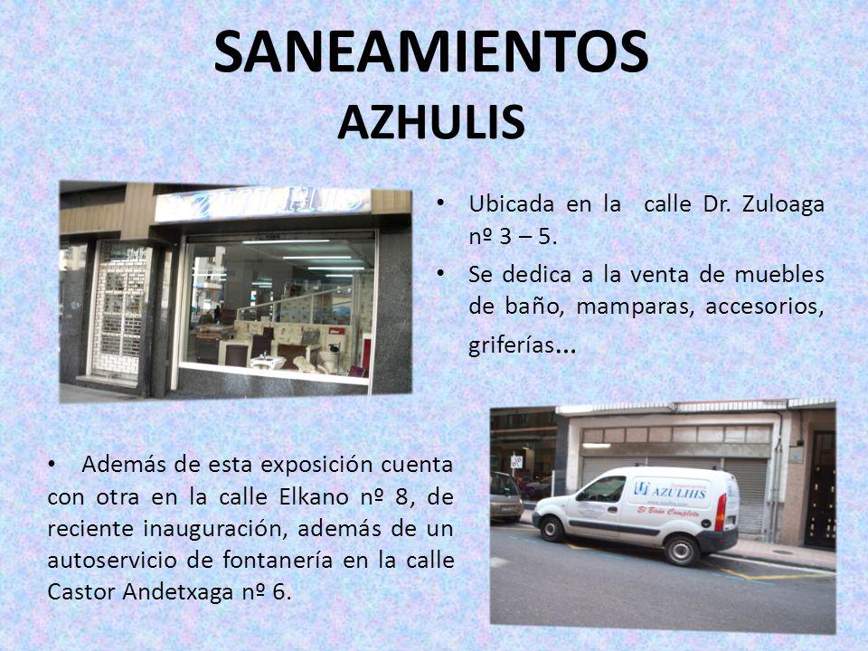 SANEAMIENTOS AZHULIS Ubicada en la calle Dr. Zuloaga nº 3 – 5.
