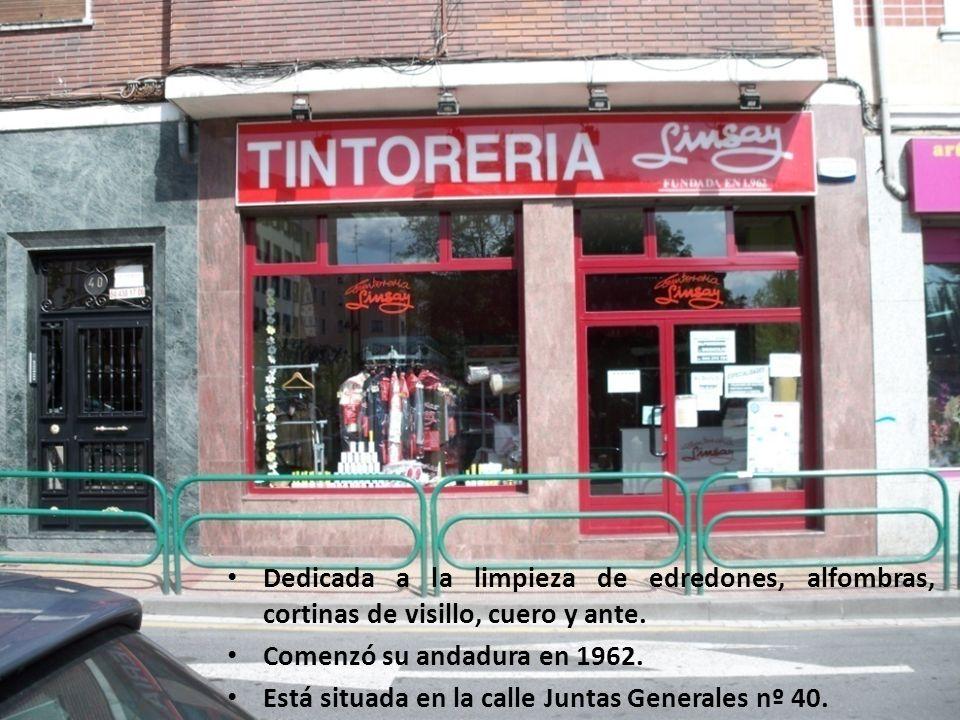 TINTORERÍA LINSAY Dedicada a la limpieza de edredones, alfombras, cortinas de visillo, cuero y ante.