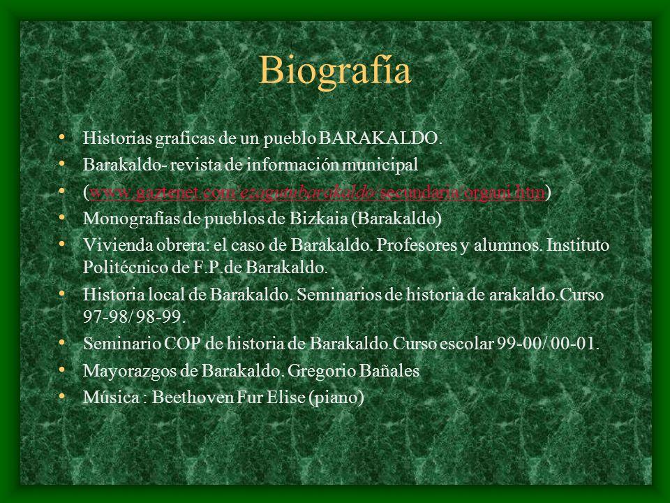 Biografía Historias graficas de un pueblo BARAKALDO.