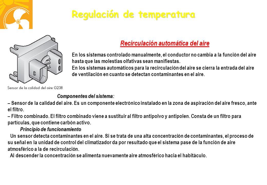 Recirculación automática del aire