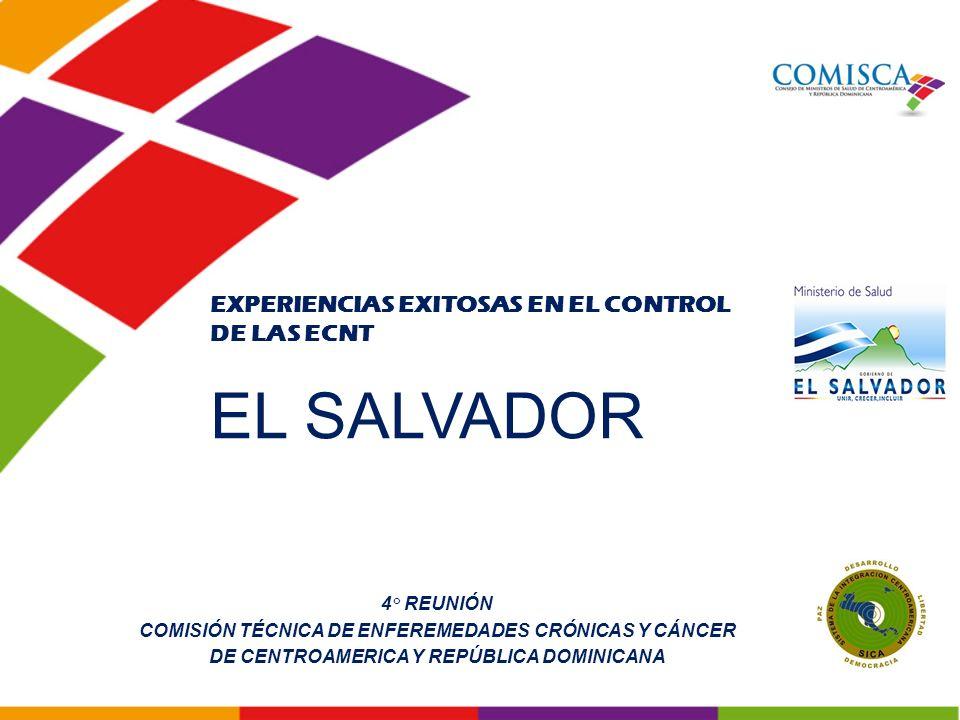 EL SALVADOR EXPERIENCIAS EXITOSAS EN EL CONTROL DE LAS ECNT 4° REUNIÓN