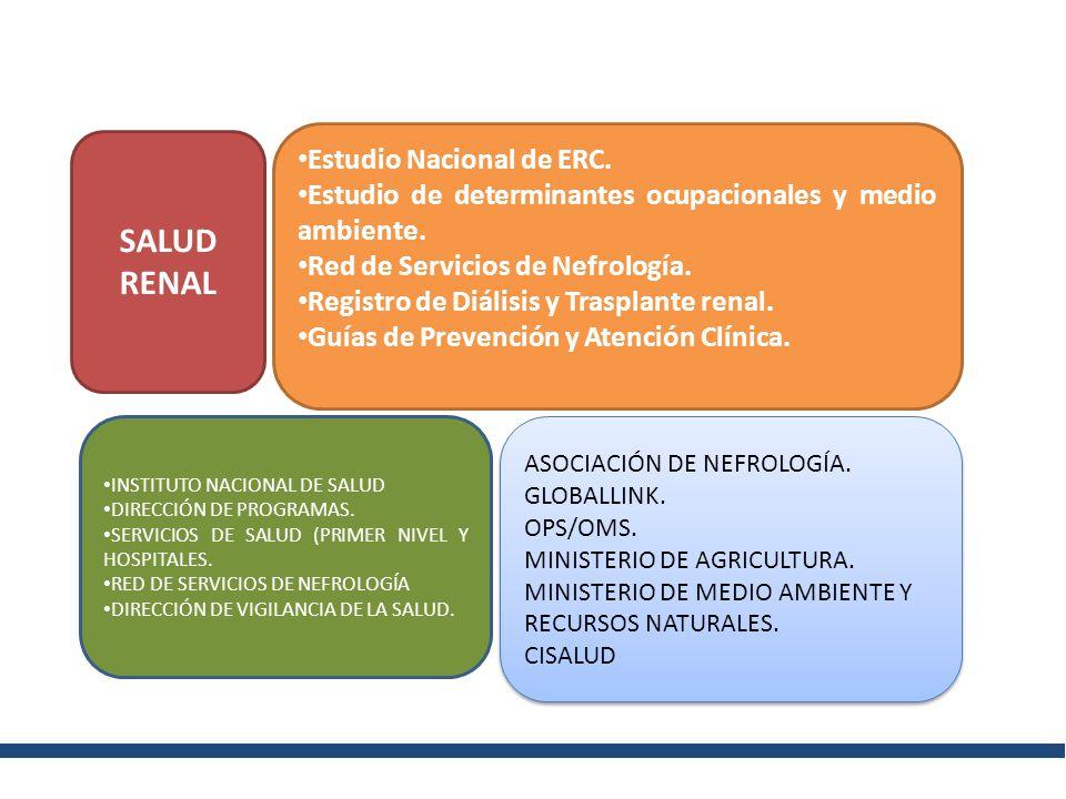 SALUD RENAL Estudio Nacional de ERC.