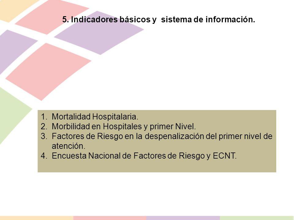 5. Indicadores básicos y sistema de información.