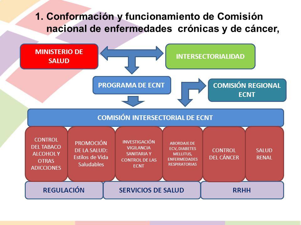 COMISIÓN REGIONAL ECNT COMISIÓN INTERSECTORIAL DE ECNT