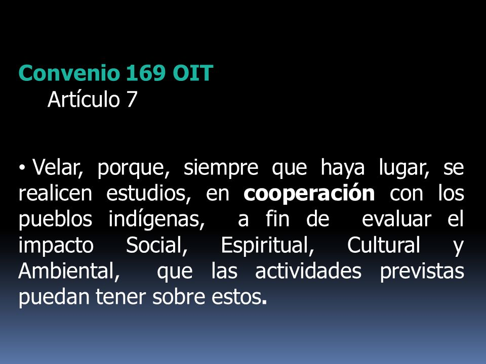 Convenio 169 OIT Artículo 7.