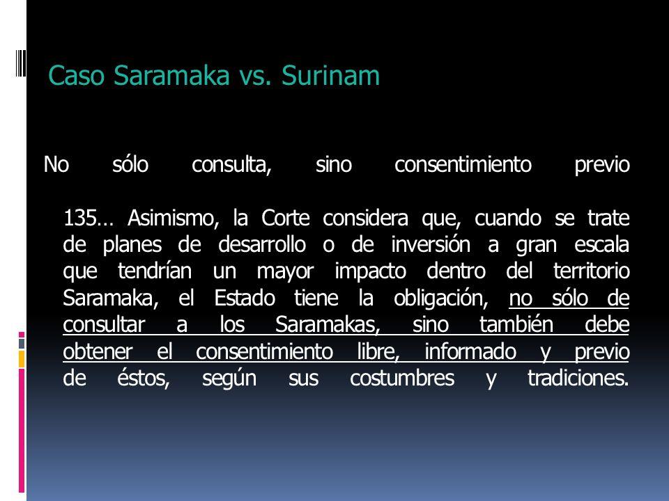 Caso Saramaka vs. Surinam