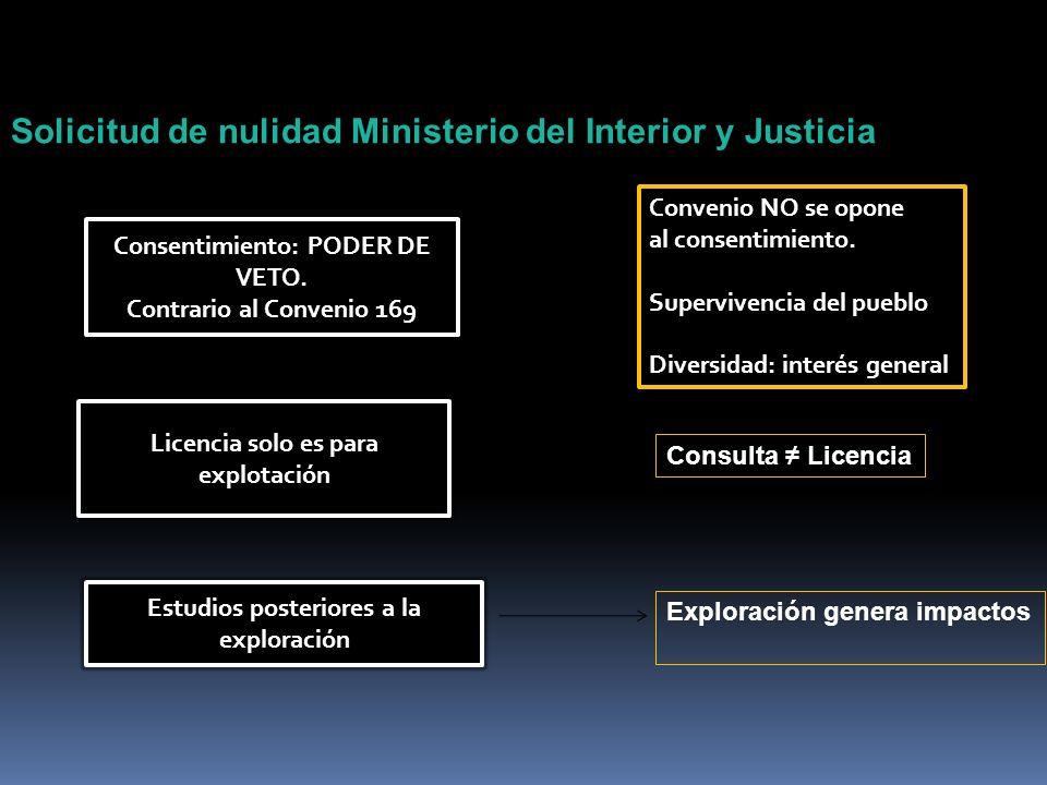 Solicitud de nulidad Ministerio del Interior y Justicia