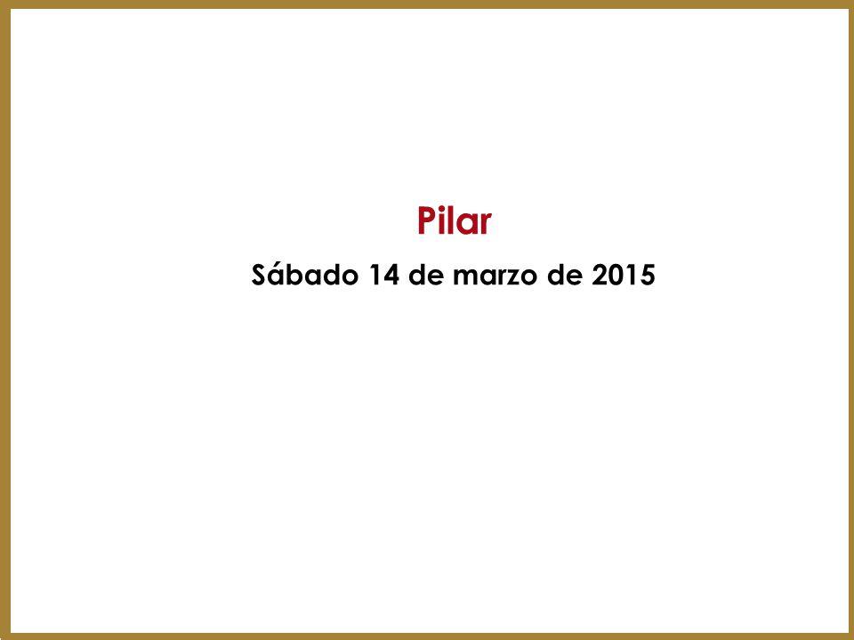 Pilar Sábado 14 de marzo de 2015 45