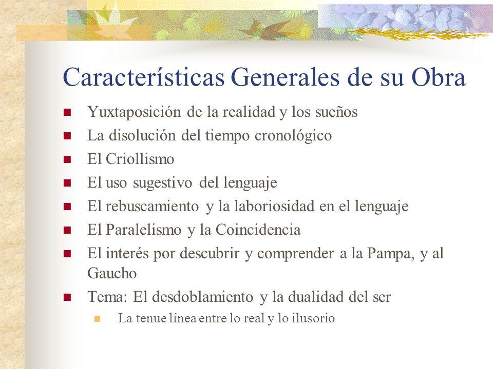 Características Generales de su Obra