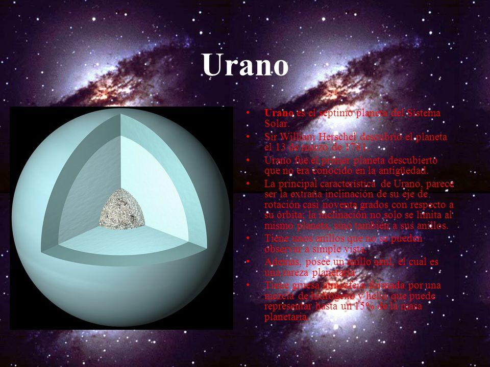 Urano Urano es el séptimo planeta del Sistema Solar.