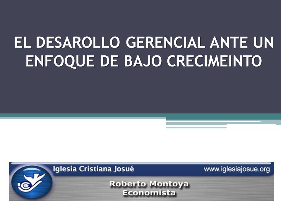EL DESAROLLO GERENCIAL ANTE UN ENFOQUE DE BAJO CRECIMEINTO