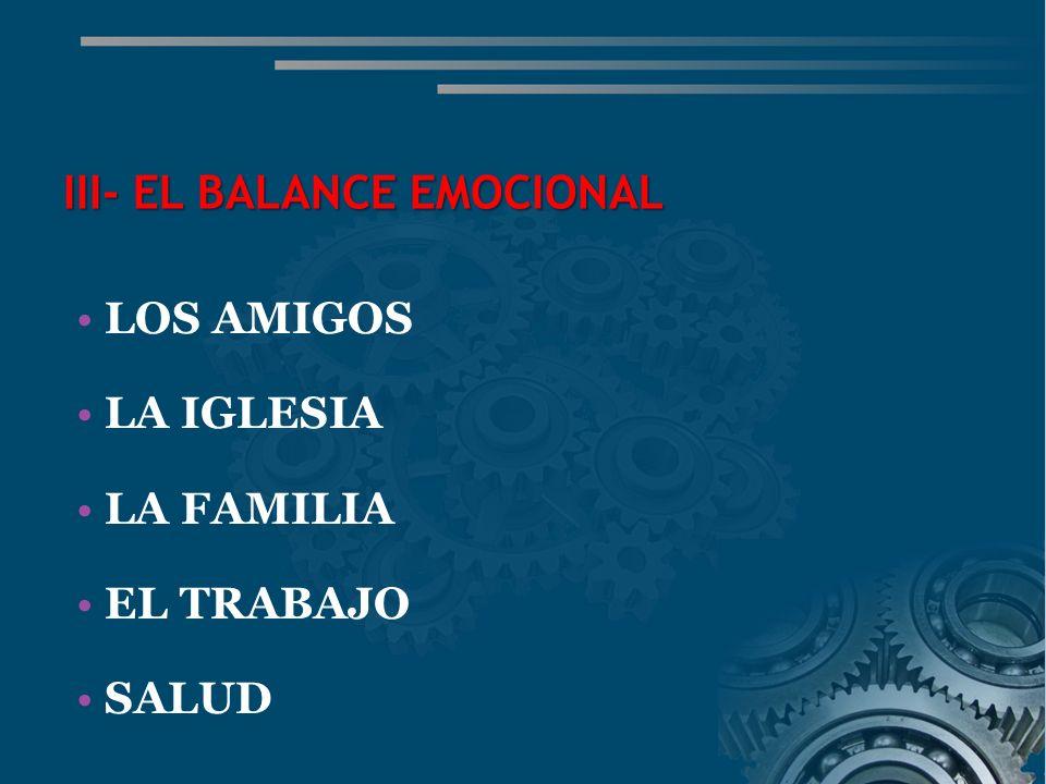 III- EL BALANCE EMOCIONAL