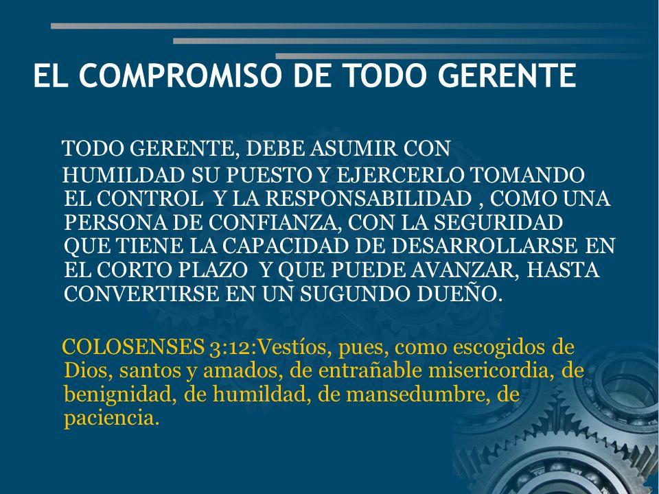EL COMPROMISO DE TODO GERENTE