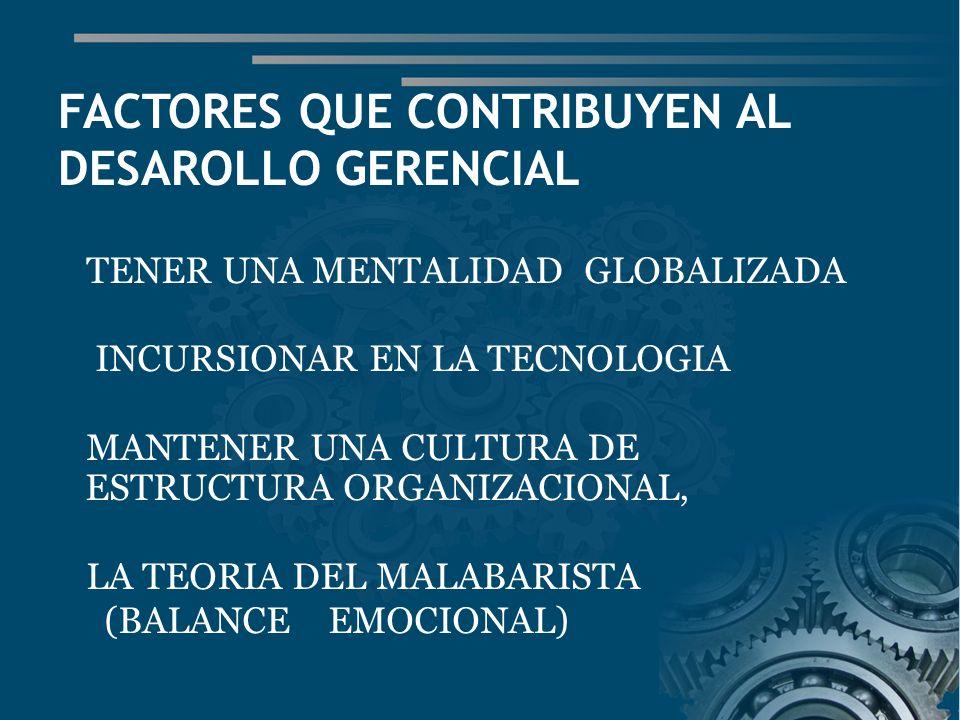FACTORES QUE CONTRIBUYEN AL DESAROLLO GERENCIAL