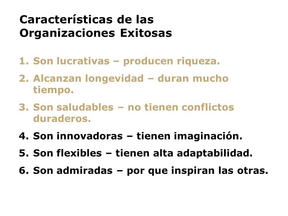 Características de las Organizaciones Exitosas