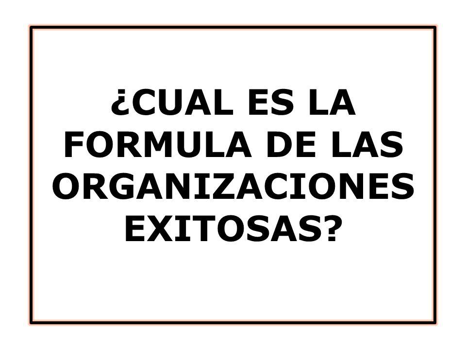 ¿CUAL ES LA FORMULA DE LAS ORGANIZACIONES EXITOSAS