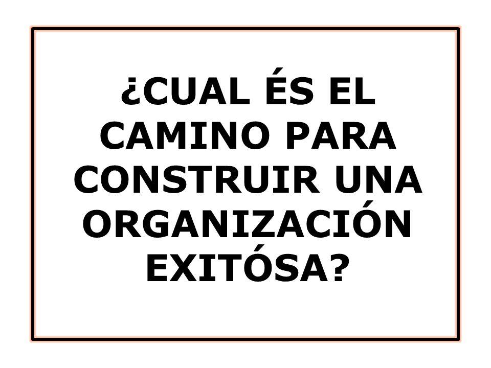 ¿CUAL ÉS EL CAMINO PARA CONSTRUIR UNA ORGANIZACIÓN EXITÓSA