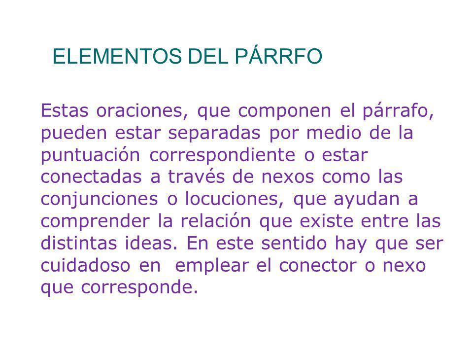 ELEMENTOS DEL PÁRRFO