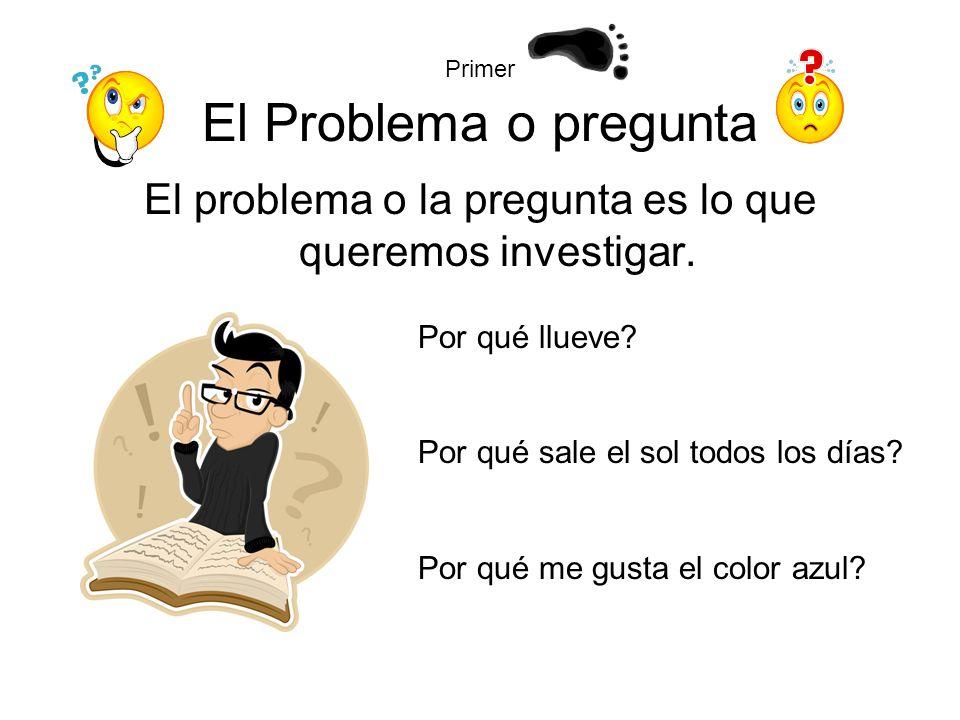 Primer El Problema o pregunta