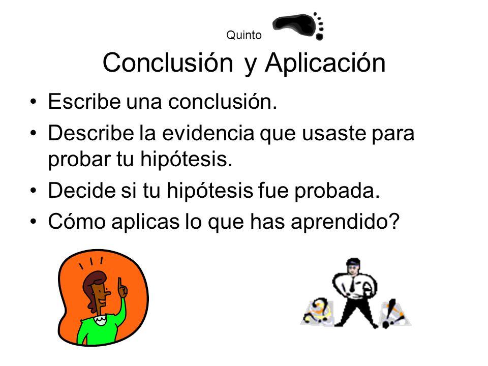 Quinto Conclusión y Aplicación