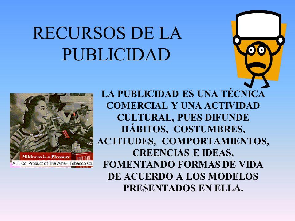 RECURSOS DE LA PUBLICIDAD