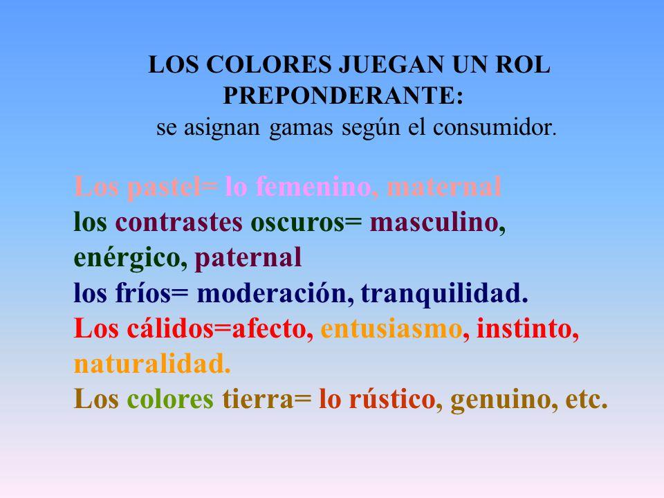 LOS COLORES JUEGAN UN ROL PREPONDERANTE: