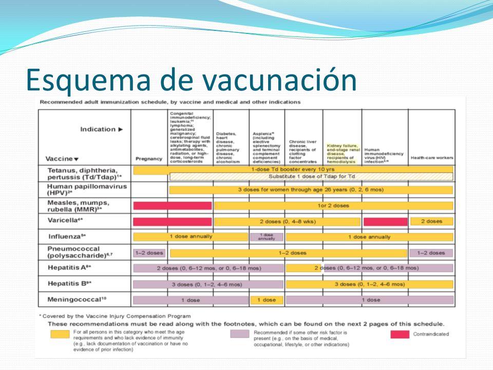 Esquema de vacunación
