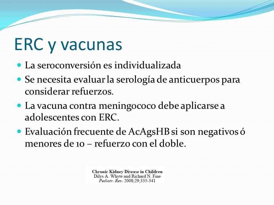 ERC y vacunas La seroconversión es individualizada